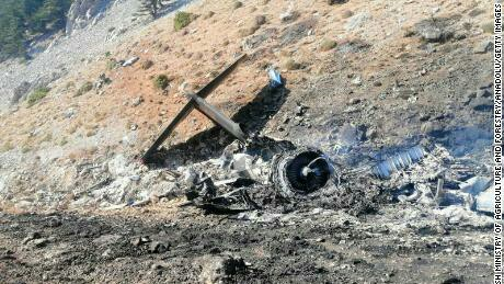 Private news agency DHA said the plane crashed as it was fighting a forest fire in the inland Bertiz region [File: Umit Bektas/Reuters]